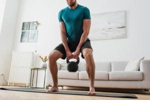 Barefoot Kettlebell Workout