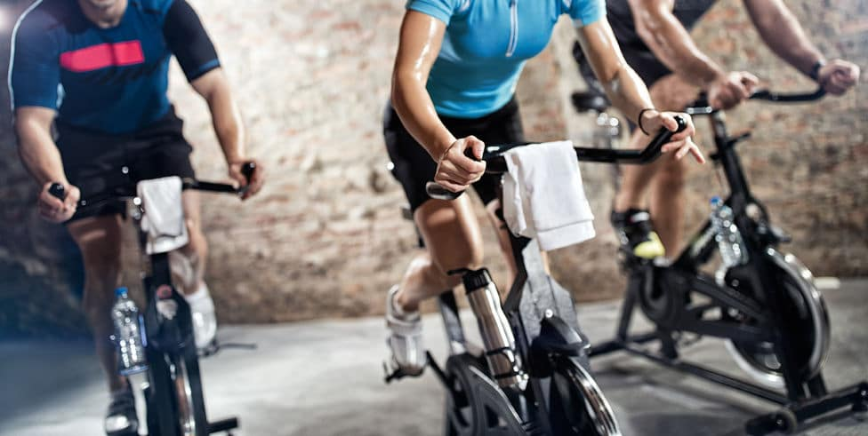 Cardio Fitness Class on Exercise Bikes