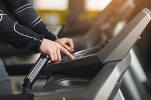 Clicking the Treadmill Buttons