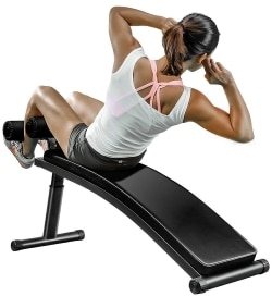 Gym-Quality Sit Up Bench with Reverse Crunch Handle for Ab Exercises from Finer Form