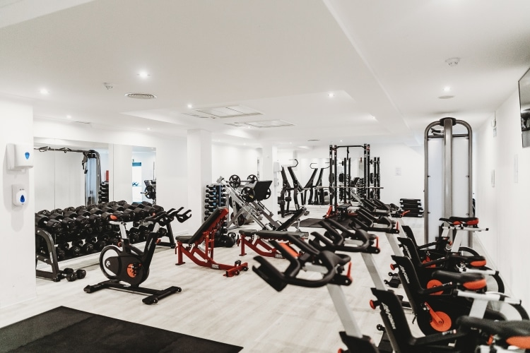 Gym With Free Weights and Exercise Machines