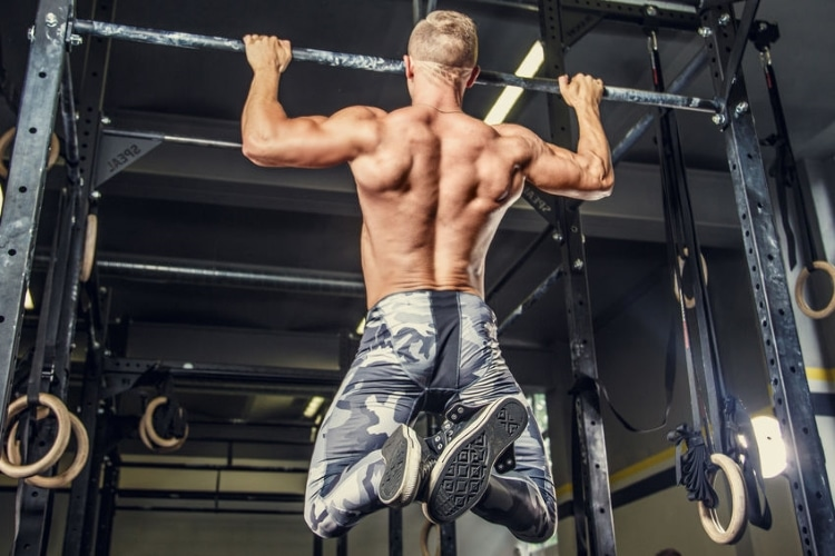 Man Pulling up on Horizontal Bar