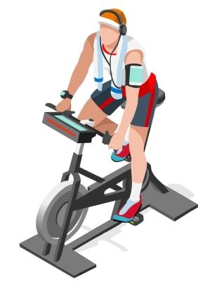 Spin Bike Vector