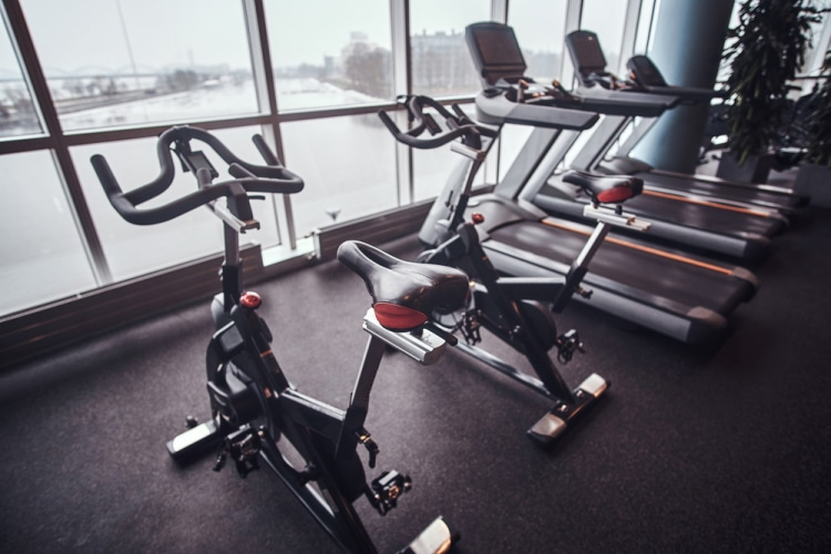 Treadmill and Exercise Bikes in Fitness Centre